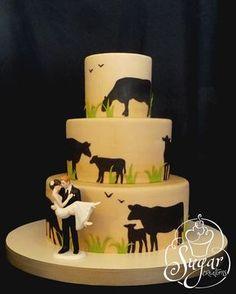 rancher's wedding cake (Sugar Creations, Uniontown, KS)