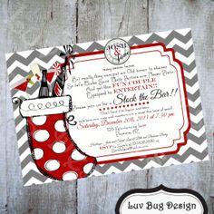 CHRISTMAS Stock the Bar Printable Party Invite by luvbugdesign, $14.00