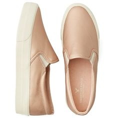 AEO Slip On Platform Sneaker ($22) ❤ liked on Polyvore featuring shoes, sneakers, flats, zapatos, sapatos, platform slip on shoes, slip on trainers, flat shoes, flat pumps and platform trainers