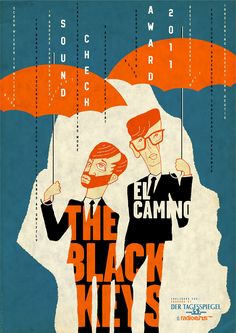 Otto Steiniger | This poster, originally created for the Black Keys, got accepted into the 55th Annual Awards Show and will be on view at the Museum of American Illustration at the Society of Illustrators New York.