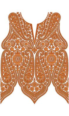 Cowl Neck Embroidery Design For Party Dress