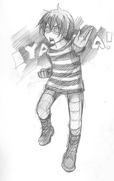 Tags: Death Note/ Matt/ Mail Jeevas/ Matt trying to fight/ Chibi Matt/ So Kawaii. Art by razuri chan