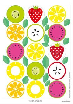 Fruit Party Fruit Printables free-Fruit Party Fruit Printables free … - My CMS Fruit Birthday, 2nd Birthday Parties, Dyi Couture, Fruit Party, Fruit Of The Spirit, Unicorn Party, Fabric Painting, Party Printables, Paper Crafts