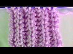 Como Tejer Punto Ingles - Brioche Stitch 2 Agujas (8) - YouTube