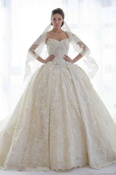 I don't like big ball gown dresses but I love this!