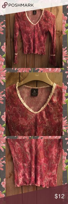 ANXIETY CAFE PINK FLORAL BELL SLEEVE BLOUSE SZ L Very Pretty Blouse has Different Shades of Pink With Outlining in Brown and Gray Florals. Has Cream Crochet Lace Along Neckline and Near Sleeve Ends.. Is a Long Bell Sleeve.. Blouse is a Fitted Slightly Cropped!  Has Been Worn In Very Good Condition!!  Fabric Contents 💯 % Polyester. Size Large ANXIETY CAFE Tops Blouses