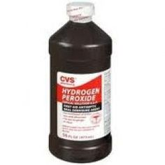 Cleaning carpets with hydrogen peroxide.