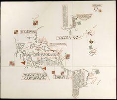 1519 - Mapa manuscrito realzado por el cartógrafo portugués Jorge Reinel.