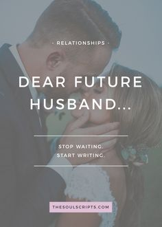 The story of a 13 year old that started praying for and writing letters to her future husband. On our wedding day, he opened a box full of those letters >> How to Write Letters to Your Future Husband   How to Pray for Your Future Husband