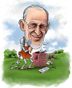 Hauska lahja eläkkeelle jäävälle - karikatyyri syntymäpäivälahja. #lahjaidea #lahjaideat #syntymäpäivälahja #taulu