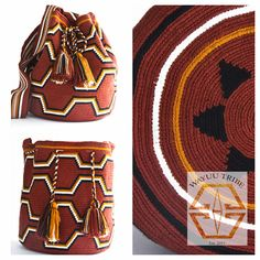 Visit www.Wayuutribe.com to see more Mochilas and boho bags styles. These bags are known as the Susu bag to the Wayuu people. The average bag takes apprx 30 days to hand weave. All bags are Handmade. Wayuu people are use bight different colors and patterns to tell the story of the weaver. These are all one-of-kind bags. Wayuu tribe bags are $148.00. They are woven with cotton thread. A nice beach bag or farmer bag that is very sturdy. #boho #HANDMADE #mochila