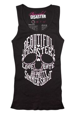 Browse Beautiful Disaster clothing at Inked Shop. You'll find comfy hoodies, legging, t-shirts, tank tops and more with bold designs for unapologetic women. Beautiful Disaster Clothing, Rockabilly, Mode Sombre, Grunge, The Dream, Tattoo Clothing, Skull Fashion, Punk Fashion, Fasion