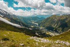 Chamonix Valley from the Mont Blanc [OC] [3456x2304]   landscape Nature Photos