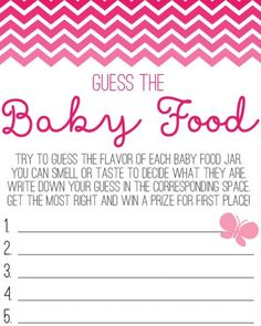 Baby Food Guessing Game Template  Guess How Many Candies In The