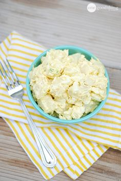 One of my favorite recipes of all time - my mom's famous Potato Salad!