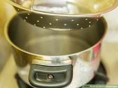 4 Ways to Steam Asparagus - wikiHow Steamed Asparagus, Asparagus Recipe, Kitchen Aid Mixer, Coffee Maker, Recipes, Coffee Maker Machine, Coffee Percolator, Coffee Making Machine