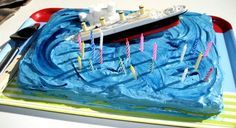 Ideas for a Titanic themed kids birthday party.(Alex is so into titanic)