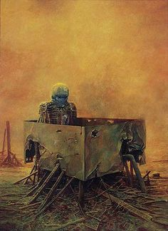 That should be all I found. Years 1986 - 1988 end Beksinski's fantasy period. He painted more abstract compositions later. ...