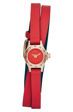 Make a subtle statement with this bright red watch.