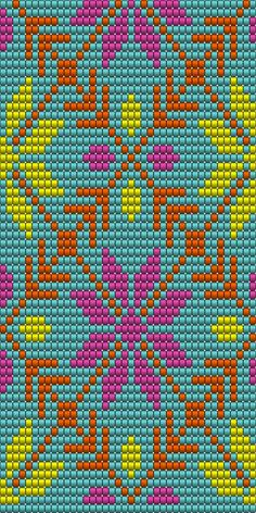 "The location where building and construction meets style, beaded crochet is the act of using beads to decorate crocheted products. ""Crochet"" is derived fro Tapestry Crochet Patterns, Bead Loom Patterns, Crochet Stitches Patterns, Beading Patterns, Cross Stitch Patterns, Knitting Patterns, Mochila Crochet, Bag Crochet, Crochet Chart"