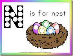 n is for nest letter n printables worksheets printables slp preschool letters letter n. Black Bedroom Furniture Sets. Home Design Ideas