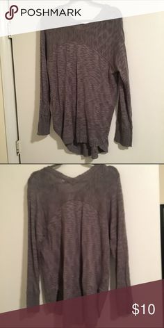Large sweater from local boutique Grey sweater perfect with leggings and boots! Sweaters Crew & Scoop Necks