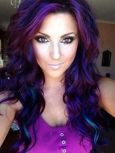Purple Highlighted Hairstyles for Girls In 2020 43 Amazing Dark Purple Hair Balayage Ombre Violet Style Dark Purple Hair Color, Light Purple Hair, Cool Hair Color, Bright Hair, Galaxy Hair Color, Deep Burgundy Hair Color, Peacock Hair Color, Purple Hair Streaks, Violet Hair Colors