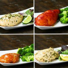 Freezer Pack-Marinated Chicken 4 Ways