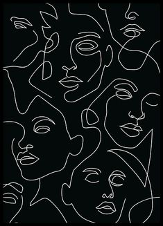The People Line Art Poster in the group Posters Prints Illustrations at Desenio AB 12505 # Photo Wall Collage, Collage Art, Picture Wall, Art Collages, Groups Poster, Kunst Poster, Aesthetic Art, Aesthetic Women, Black And White Aesthetic