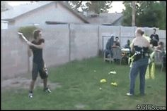 Piñata fail ( right !! Now it's HER TURN !! ) That bat has a chance of breaking in half with the force she cracks his skull open with ‼️☑️  Ps = Nah !! As if she WOOD / would ?