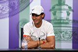 Rafael Nadal during his press conference