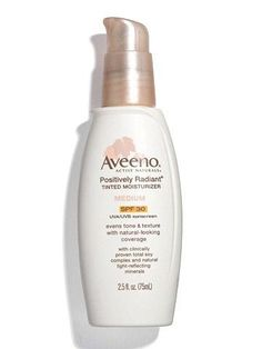 Aveeno Positively Radiant Tinted Moisturizer with SPF 30  Pack a Perfect Gym Bag: Must-Have Beauty Products | Fitness Magazine