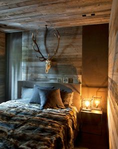 26 Terrific Basement Bedroom Ideas That You Need To Know – Basement Bedrooms Stylish Bedroom, Cozy Bedroom, Modern Bedroom, Bedroom Decor, Bedroom Ideas, Winter Bedroom, Contemporary Bedroom, Basement Guest Rooms, Rustic Bedroom Design