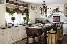 Winter kitchen at the Polohouse. Midwest Living. polohouse.blogspot.com