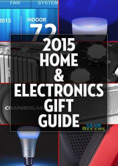 You can complete all your shopping this year just by perusing various gift guides including these 10 suggestions for home and electronics. - SahmReviews.com!