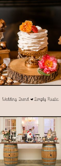 Wedding Trend ... Simply Rustic Use nature as your wedding inspiration. Barn weddings are super popular, but you don't need a barn to bring that cozy feeling to your wedding reception. Combining elegant charm with simple rustic features will create the warm inviting ambiance you're after! shop for elegant wedding charm here >>http://www.opulenttreasures.com/shop/
