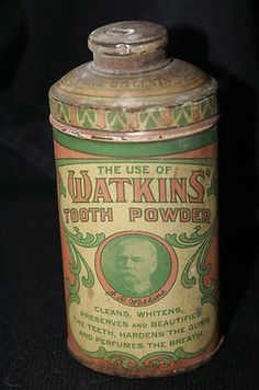 VINTAGE ANTIQUE RARE WATKINS DENTAL TOOTH POWDER TIN DENTIST TEETH PHOTO | eBay