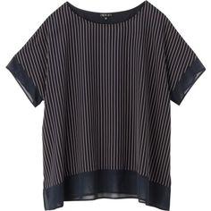 [L]ストライプ切り替えカットソー(INDIVI [インディヴィ] のTシャツ)   iQON