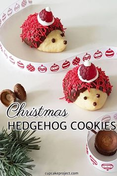 looking for easy christmas dessert recipes make this hedgehog cookies its christmas inspired cookies
