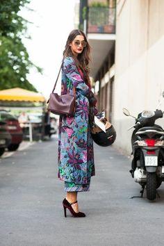 Интересные сочетания с кимоно. 7