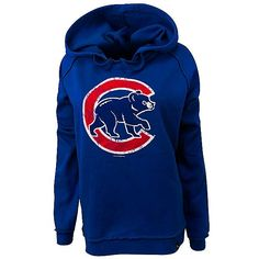 Chicago Cubs Women's Royal Crawl Bear Hood by 5th & Ocean #Chicago #Cubs #ChicagoCubs