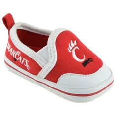 NCAA Baby Boys' White/Red Slipper - Cincinnati Bearcats, Infant Boy's, 3-6 Months