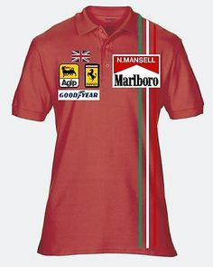 #Nigel #mansell  #retro polo shirt  f1 formula 1,  View more on the LINK: http://www.zeppy.io/product/gb/2/151623262329/