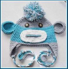 Image detail for -Cute Crochet Baby & Toddler Monkey Hat - Funky Baby Clothes ...