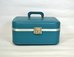 Vintage Blue Train Case by KrisVintageClothing on Etsy, $old