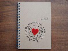 Jammie Dodger Felt Heart Kawaii Spiral Bound A6 Notebook (8.00 GBP)