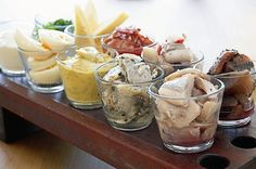 "Pickled Herring. We eat a lot of them.:)  On a ""Smörgåsbord"", on our Christmas bord, in celbrating Eastern and of course in the big Midsummer feasts."