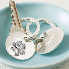 Paw Print Key Ring.