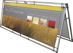 Supreme Outdoor/Indoor Horizontal A-Frame Banner Stand Display, 8' Foot Wide | Metropolitan Display