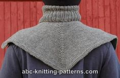 ABC Knitting Patterns - Biker's Cowl / Dickie Knitting Patterns Free, Knit Patterns, Free Knitting, Free Pattern, Knit Cowl, Knitted Poncho, Knitted Shawls, How To Purl Knit, Neck Warmer